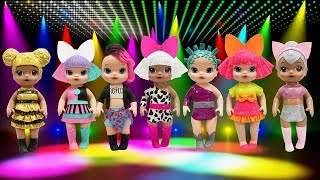Play Doh L.O.L Surprise Doll Baby Alive Pranksta Kitty Queen Diva  Glitter Queen