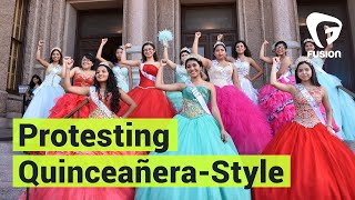 "These Latinas are protesting an anti-sanctuary city law, quinceañera-style.These teens wanted to protest an anti-sanctuary city law in Texas, so they put on their quinceañera dresses.""The bottom line is SB4 makes simply being brown illegal.""""We will resist through celebrating our families and our culture."" Subscribe to Fusion: http://fus.in/subscribeVisit us at: http://www.fusion.netLike us at: https://www.facebook.com/fusionmedianetworkFollow us at: https://twitter.com/fusionView us: http://instagram.com/ThisIsFusionWatch more from Fusion friends:F-Comedy: https://goo.gl/Q27Mf7Fusion TV: https://goo.gl/1IbZ1BGizmodo: https://goo.gl/YTRLAEKotaku: https://goo.gl/OcnXv7Deadspin:  https://goo.gl/An7N8gJezebel:  https://goo.gl/XNsnCJLifehacker:  https://goo.gl/3rNmzwIo9:  https://goo.gl/ismnzPJalopnik:  https://goo.gl/u7sDEkSploid:  https://goo.gl/4yq2UYThe Root:  https://goo.gl/QMOjBE"