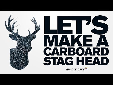 cardboard animals - We wanted our studio to look like a manly ranch without the whole dead animal thing. Watch as our animal cruelty free cardboard stag heads becomes complete. ...