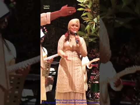 Dilbaro Song Live, On The Occasion Of A Ring Ceremony Of Akash Ambani. Performed By Harshdeep Kaur