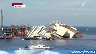 Самая сложная часть операции по подъему Коста Конкордии успешно завершена,италия,кораблекрушения,
