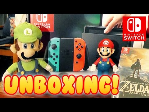 NINTENDO SWITCH UNBOXING! With Mario And Luigi!