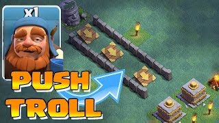 Video PUSH to CRUSHER TROLL!!! | Clash of clans | MAXED UPGRADES!! MP3, 3GP, MP4, WEBM, AVI, FLV Oktober 2017