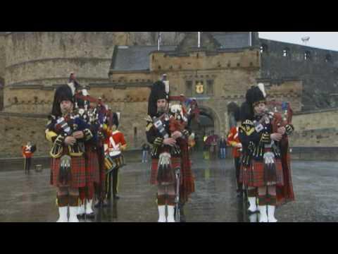 STV Scotland - The Royal Scots Dragoon Guards perform at Edinburgh Castle