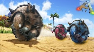 CARRERAS DE DINOSAURIOS!! - ARK survival Evolved - Nexxuz