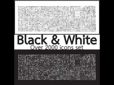 Quality Icon Sets Over 2000 Black and White Set icons