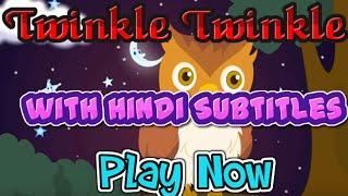 Twinkle Twinkle With Hindi Subtitles - Nursery Rhyme