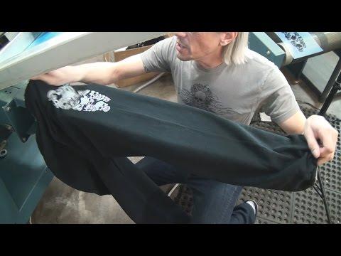 How To Screen Print Textiles: Printing Fleece Sweat Pants Legs