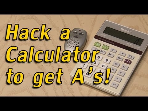 hack - Hack an ordinary calculator to help you