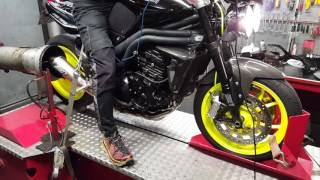 6. Dyno run 2 with 2010 Triumph Speed Triple @ Tovami