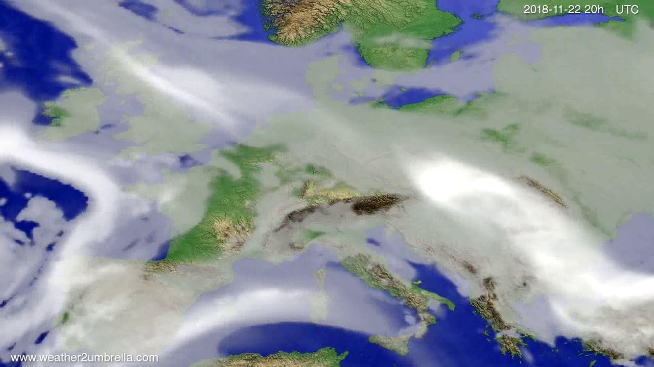 Cloud forecast Europe 2018-11-20