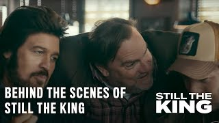 Get a behind-the-scenes look at what it's like to work with the hilarious cast and crew of Still The King. Catch new episodes of Still The King Tuesdays at 10/9c on CMT. Subscribe to CMT for more Still The King: http://bit.ly/2r4dHA1More Still The King:Hilarious Season 1 Bloopershttp://bit.ly/2sxuAr8The Cast on Working With Billy Ray Cyrushttp://bit.ly/2reLQO3FOLLOW CMT:Facebook: http://at.cmt.com/uXwBK Twitter: http://at.cmt.com/uXwGj Instagram: http://at.cmt.com/uXx1QCMT.com: http://at.cmt.com/uXwLt This season of Still The King begins with Vernon (Billy Ray Cyrus) fresh out of jail and determined to reclaim his position as a country music superstar while being present in the lives of his daughter Charlotte (Madison Iseman) and her mother Debbie (Joey Lauren Adams). Faced with the possibility of being a father to Debbie's unborn child, Vernon must balance his desires for fame and family.