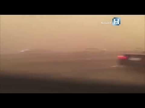 #فيديو :: عاصفة رملية على #جدة
