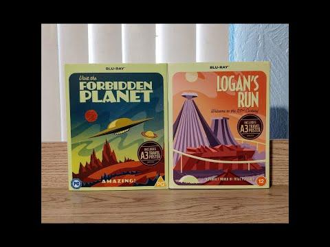 Forbidden Planet &  Logan's Run Slipcase / Travel Poster Editions Blu-Ray Unboxing