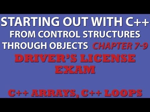 C++ Programming Challenge 7-9: Driver's Licence Exam (C++ arrays, C++ loops)