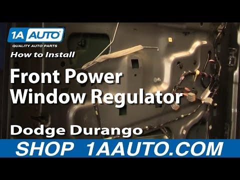 How To Install Replace Front Power Window Regulator Dodge Durango 04-09 1AAuto.com