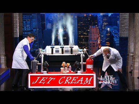 Alton Brown Makes Ice Cream in 10 Seconds on The Late
