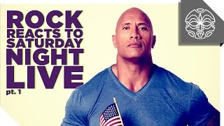 The Rock Reacts to his FavoriteSketches from Saturday Night Live: PART 1 Video