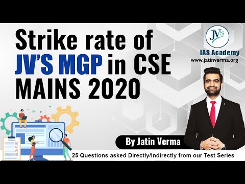 DIRECT QUESTIONS from JV's IAS Mains Test Series in UPSC Mains 2020 | Full Analysis