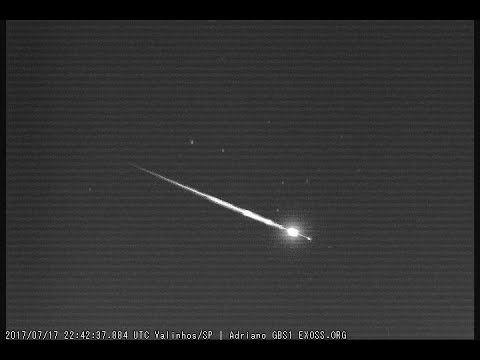 Fireball recorded by 4 cameras in Brazil uploaded by Eduardo P.  Santiago