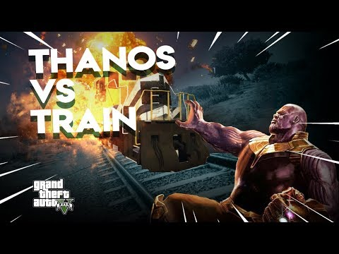 Thanos Destroys Train with the INFINITY GAUNTLET | GTA 5 Mods (видео)