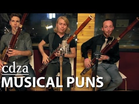puns - Instruments and Artists come together in this harmonious sympunny.