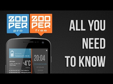 Video of Zooper Widget
