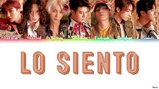 SUPER JUNIOR FT. LESLIE GRACE (슈퍼주니어) - LO SIENTO Lyrics (HAN/ROM/ENG)