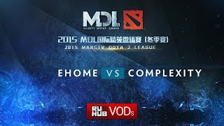 EHOME vs coL, game 1