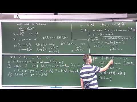 "Kyoto U. ""Generic vanishing and the birational geometry of irregular varieties"" L.1"