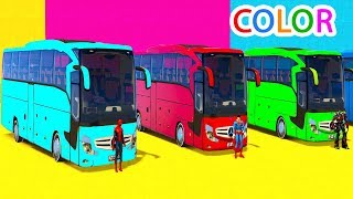 Colors for Kids Big Bus with Fun Superheroes Cartoon For Toddlers AnimationLearn Colors Fun Cars w Superheroes For Kids & Babieshttps://youtu.be/sjaDYK317KETractor Spiderman Car Cartoons For Kids In English For Childrenhttps://youtu.be/RAvgag9v11ULEARN COLORS for kids w TRUCK Cars & Spiderman Cartoonhttps://youtu.be/4nBM2Lhw1WQLearn Colors McQueen Cars for Kids - Superheroes for Babieshttps://youtu.be/zEu9sLbsr-4Learn Colors with Cars Superhero Watermelon Pool https://youtu.be/zBYckD41bo8