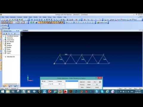 Femap Tutorial 1: Plane Truss Analysis