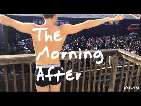 早上被家門前的音樂表演吵到睡不著,於是他決定半裸在陽台上進行一場超瘋狂的「報復」!