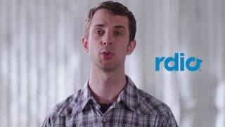 Rdio Music YouTube video
