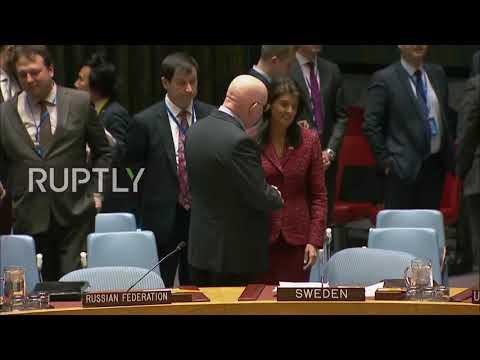 Представители РФ и США, поставившие мир на грань новой войны, мило целуются в ООН