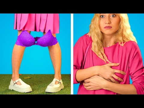 OH NOT AGAIN! 😨 Underwear HACKS 👙 19 Lebensrettende BH Tricks und andere Hacks für Mädels