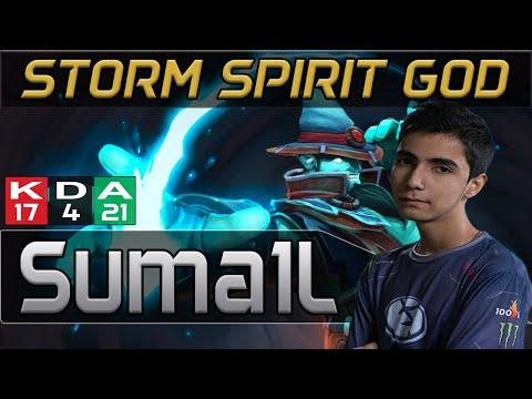 EG Sumail plays StormSpirit [Impressive KDA 17-4-21 vs Vici Gaming] Dota 2 [TI5 Group]