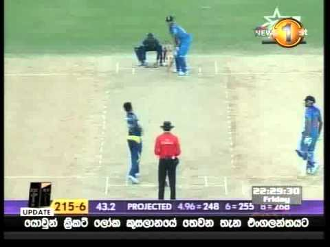 Malinga sends Harbhajan back with a toe crusher, 2008
