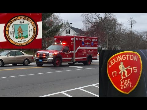 *HAPPY PATRIOT'S DAY* LEXINGTON MA FIRE MEDIC 1 RESPONDING