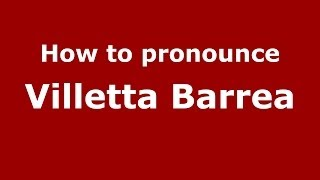 Villetta Barrea Italy  City new picture : How to pronounce Villetta Barrea (Italian/Italy) - PronounceNames.com