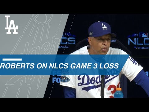 Video: NLCS Gm3: Roberts on coming up short in Game 3 loss