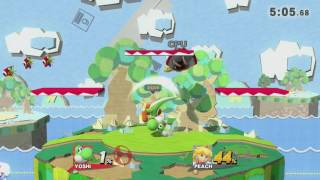 Melee Yoshi's Story in Smash 4 (With working Randall)