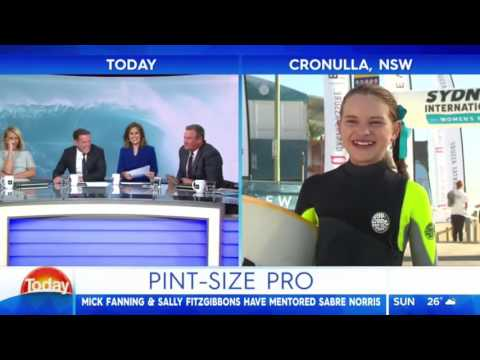 Today Show - 11 Year Old Surfer Pulls No Punches On Dad's Weight Gain