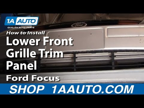 How To Install Replace Lower Front Grille Trim Panel Ford Focus 02-04 1AAuto.com