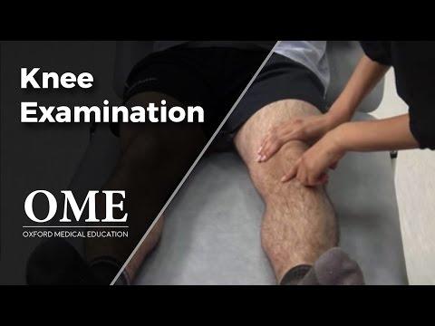 how to exam a knee