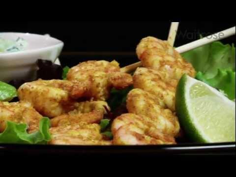 Prawn tikka skewers recipe – Waitrose