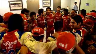 Big Victory over Deccan Chargers - Locker Room Celebrations.