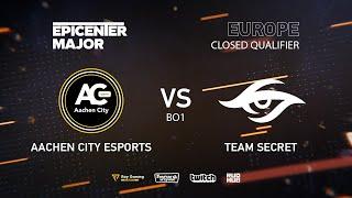 Aachen City vs Secret, EPICENTER Major 2019 EU Closed Quals , bo1 [Mila]