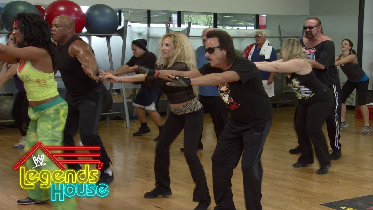 Ashley takes the Legends to the gym for a little Zumba: WWE Legends' House, April 24, 2014