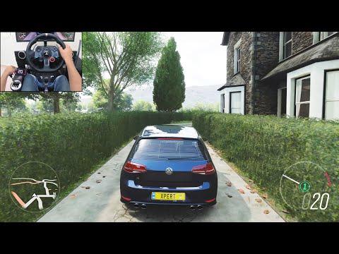 500BHP Volkswagen Golf R - Forza Horizon 4 | Logitech g29 gameplay